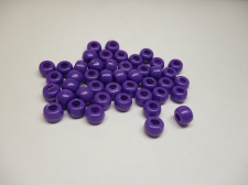 PONY BEADS 6X9MM 250G PURPLE