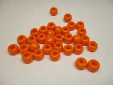PONY BEADS 6X9MM 250G ORANGE
