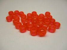 PONY BEADS 6X9MM 250G TRANS ORANGE