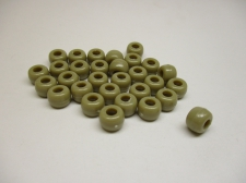 PONY BEADS 6X9MM 250G BEIGE
