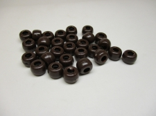 PONY BEADS 6X9MM 250G BROWN