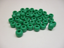 PONY BEADS 6X9MM 250G GREEN