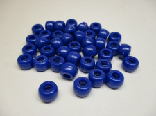 PONY BEADS 6X9MM 250G DK BLUE