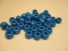 PONY BEADS 6X9MM 250G BLUE
