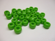 PONY BEADS 6X9MM 250G LIME
