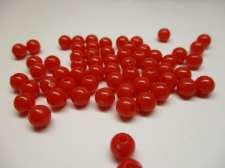 PONY BEADS 6MM 250G RED