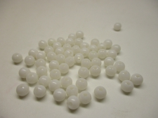 PONY BEADS 6MM 250G WHITE