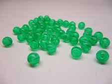 PONY BEADS 6MM 250G TRANS GREEN