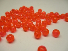 PONY BEADS 6MM 250G TRANS ORANGE