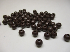 PONY BEADS 6MM 250G BROWN
