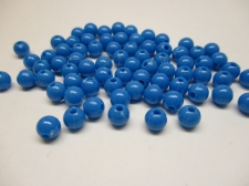 PONY BEADS 6MM 250G BLUE