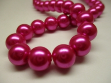 GLASS PEARLS 12MM CERIES PINK