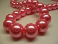 GLASS PEARLS 12MM PINK