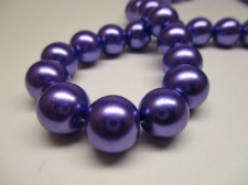 GLASS PEARLS 12MM PURPLE