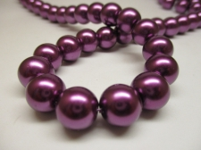 GLASS PEARLS 12MM GRAPE