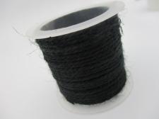 Hemp Cord 1.5mm +/- 5m Black