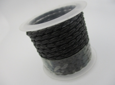 Plastic Braided Cord 2.5mm +/-1.38m Black