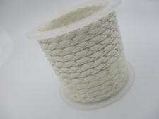 Plastic Braided Cord 2.5mm +/-1.38m White