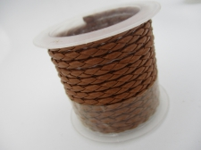 Plastic Braided Cord 2.5mm +/-1.38m Lt Brown
