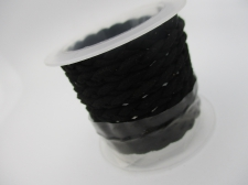 Braided Suede Cord 6x2mm +/-1m Black