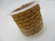 Braided Suede Cord 6x2mm +/-1m Natural