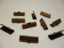 RIBBON CRIMP 20MM COPPER 16PCS