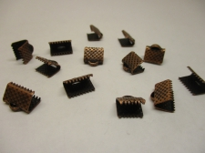 RIBBON CRIMP 8MM COPPER 26PCS