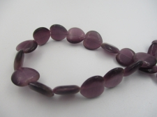 Cats Eye Heart Purple +/-35Pcs