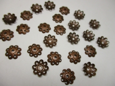 BEADCAP 10MM 100PCS #2 COPPER