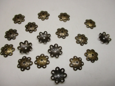 BEADCAP 10MM 100PCS #3 BRONZE