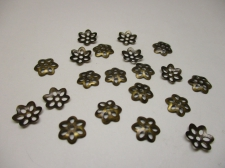 BEADCAP 10MM 100PCS #4 BRONZE