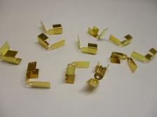 LEATHER CRMP +/-50PCS GOLD 4MM