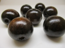 WOOD BEAD 20MM 125G DK WOOD