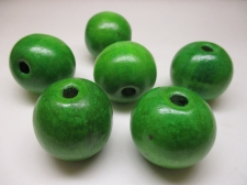 WOOD BEAD 30MM 125G GREEN