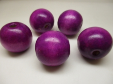 WOOD BEAD 30MM 125G VIOLET