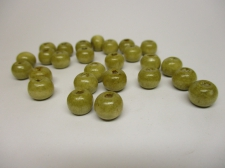 WOOD BEADS 12MM DK NATURAL 125G