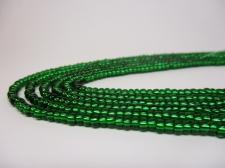 Czech Seed Beads 8/0 Foil Dk Green 3str x +/-20cm