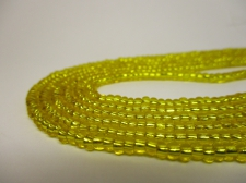 Czech Seed Beads 8/0 Foil Yellow 3str x +/-20cm