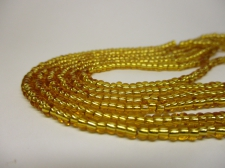 Czech Seed Beads 8/0 Foil Gold 3str x +/-20cm
