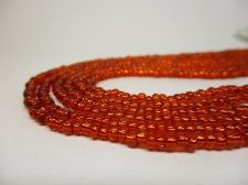 Czech Seed Beads 8/0 Foil Orange 3str x +/-20cm