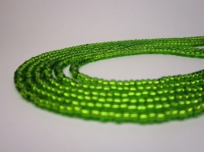 Czech Seed Beads 8/0 Foil Green 3str x +/-20cm