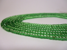 Czech Seed Beads 8/0 Foil Lt Green 3str x +/-20cm