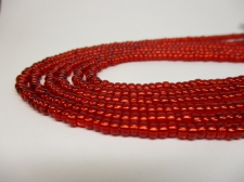 Czech Seed Beads 8/0 Foil Red 3str x +/-20cm