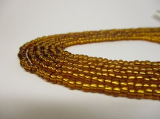 Czech Seed Beads 8/0 Foil Brown 3str x +/-20cm