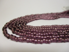 Czech Seed Beads 8/0 Foil Purple 3str x +/-20cm