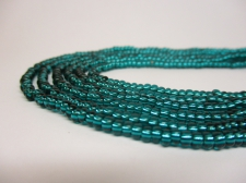 Czech Seed Beads 8/0 Foil Sea Green 3str x +/-20cm