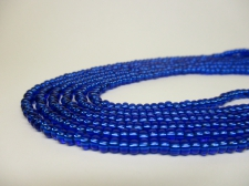 Czech Seed Beads 8/0 Foil Blue 3str x +/-20cm