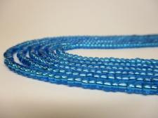 Czech Seed Beads 8/0 Foil Turq 3str x +/-20cm
