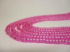 Czech Seed Beads 8/0 Foil Pink 3str x +/-20cm