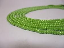Czech Seed Beads 8/0 Pearl Lt Green 3str x +/-20cm